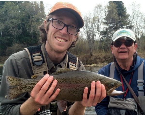 Big Connecticut River rainbow trout are easier to catch with a NH Fishing Guide!