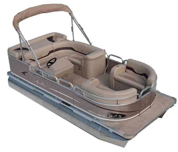 Pontoon boat with outboard motor
