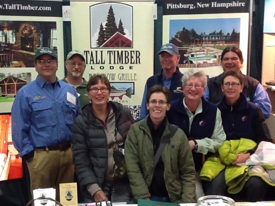"The ""Hope On The Rise"" gals and the Tall Timber guides at The Fly Fishing Show in Marlborough 1/18/2014."
